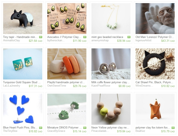 Etsy Treasury - Polymer Clay